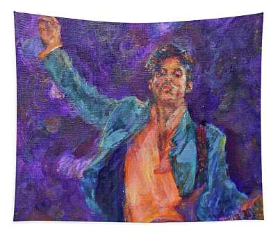 His Purpleness - Prince Tribute Painting - Original Art Tapestry