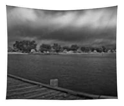Historic Anna Maria City Pier In Infrared Tapestry