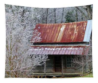 Historic North Carolina Cabin Tapestry
