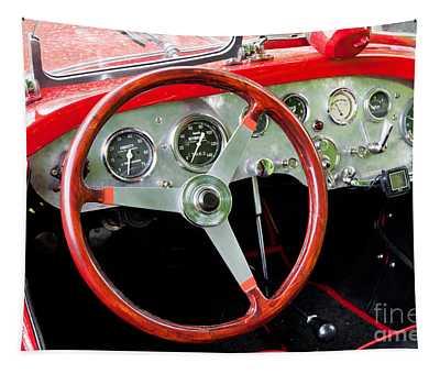 Historic Steering Wheel In Polish Fiat Tapestry