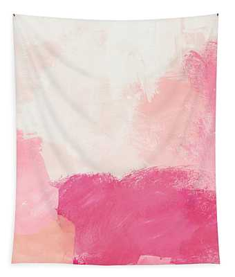 History Of Pink- Abstract Art By Linda Woods Tapestry