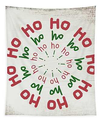 Ho Ho Ho Wreath- Art By Linda Woods Tapestry