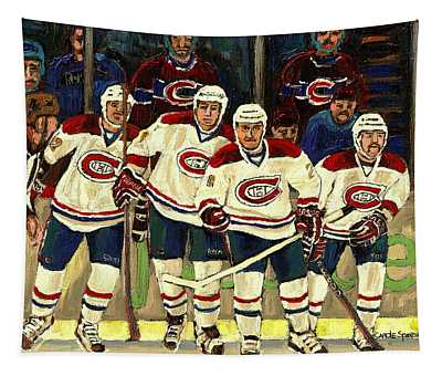 Hockey Art The Habs Fab Four Tapestry