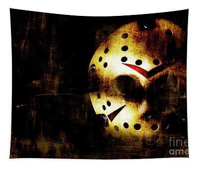 Hockey Mask Horror Tapestry