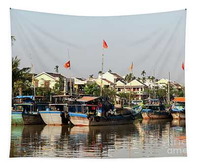 Hoi An Fishing Boats 08 Tapestry