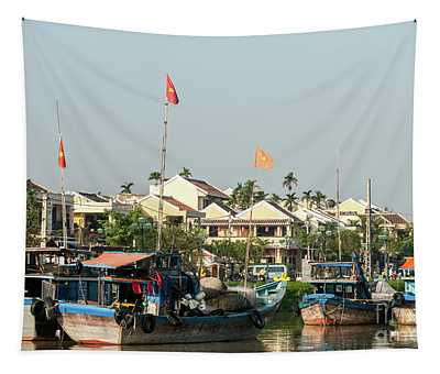 Hoi An Fishing Boats 09 Tapestry