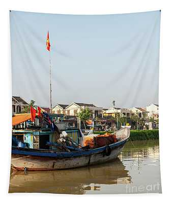 Hoi An Fishing Boats 10 Tapestry