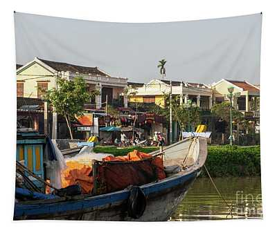 Hoi An Fishing Boats 11 Tapestry