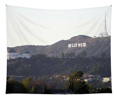 Hollywood Hills And Griffith Observatory Tapestry