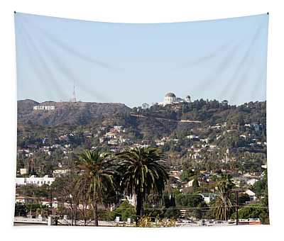 Hollywood Hills From Sunset Blvd Tapestry