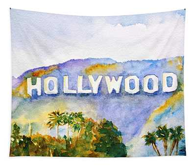 Hollywood Sign California Tapestry