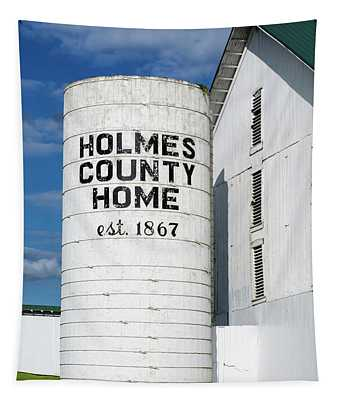 Holmes County Home Silo Tapestry