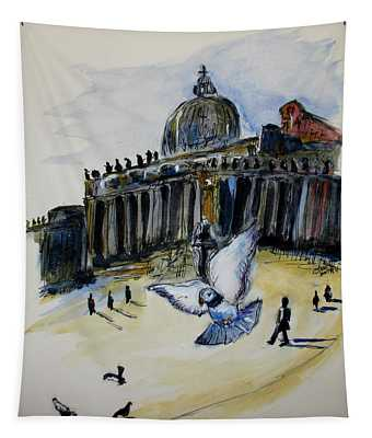 Holy Pigeons Tapestry