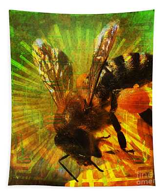 Homage To A Bee 2015 Tapestry