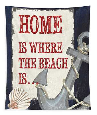 Home Is Where The Beach Is Tapestry