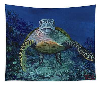 Home Of The Honu Tapestry