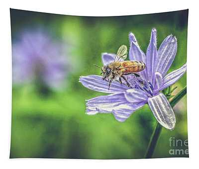 Honey Bee And Flower Tapestry