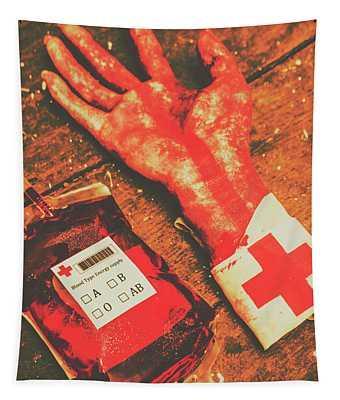 Horror Hospital Scenes Tapestry