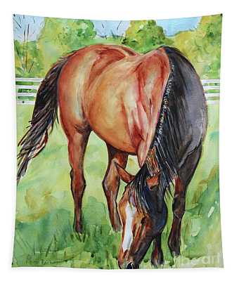 Horse Grazing Tapestry