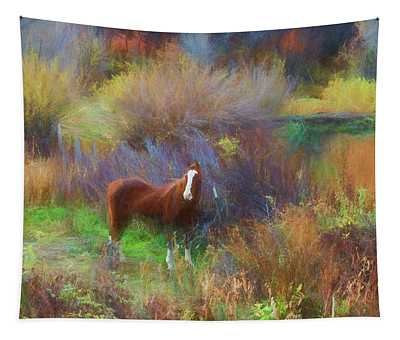 Horse Of Many Colors Tapestry