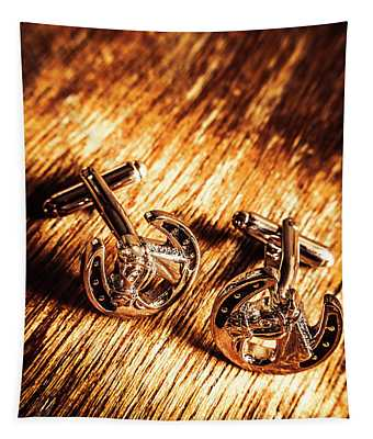 Horse Racing Cuff Links Tapestry