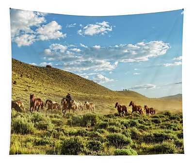 Horses And More Horses Tapestry