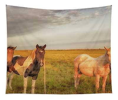 Horses At Kalae Tapestry