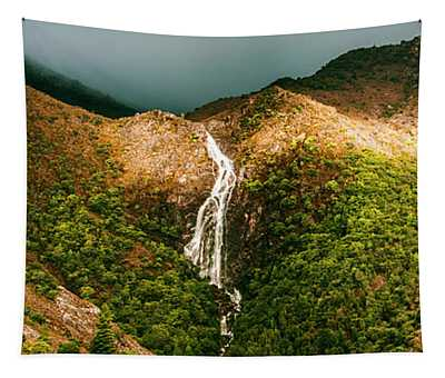 Horsetail Falls In Queenstown Tasmania Tapestry