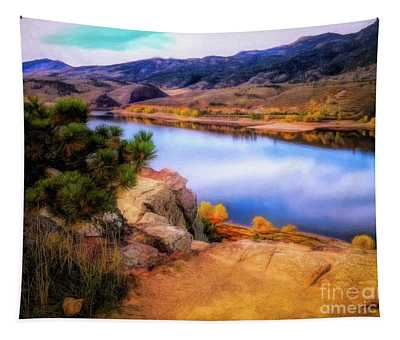 Horsetooth Lake Overlook Tapestry