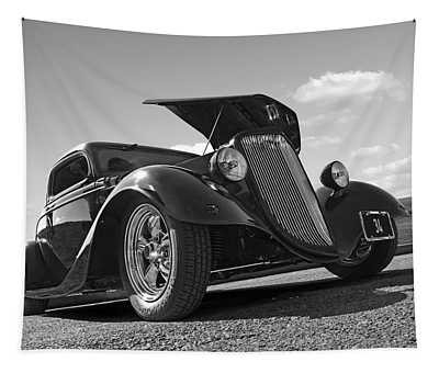 Hot '34 In Black And White Tapestry