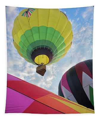 Hot Air Balloon Takeoff Tapestry