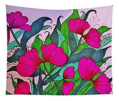 Hot Pink  Tapestry