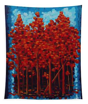 Hot Reds Tapestry