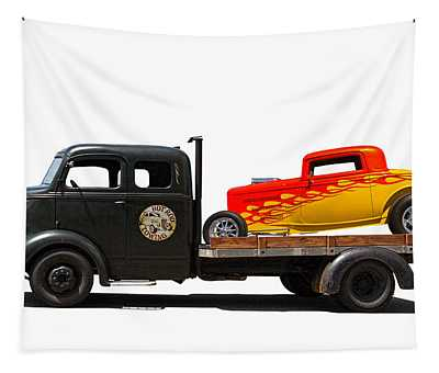Hot Rod Towing Tapestry