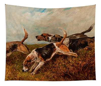 Hounds On The Scent Tapestry