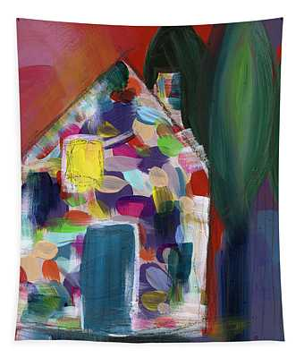 House Of Many Colors- Art By Linda Woods Tapestry
