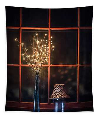 House Of Mystic Lights Tapestry