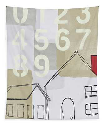 House Plans 3- Art By Linda Woods Tapestry