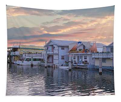 Houseboat Row - Key West Tapestry
