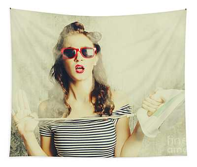 Housework Mad Pin Up Tapestry