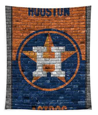 Houston Astros Brick Wall Tapestry