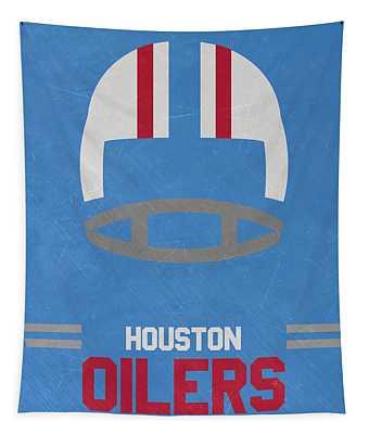 Houston Oilers Vintage Art Tapestry