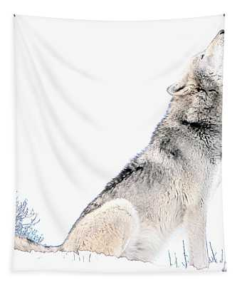 Howling Wolf 1 Tapestry