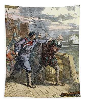 Hudson, Mutiny, 1611 Tapestry