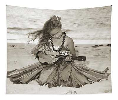 Hula Girl Tapestry