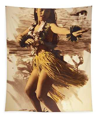 Hula On The Beach Tapestry