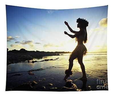 Hula Silhouette Tapestry
