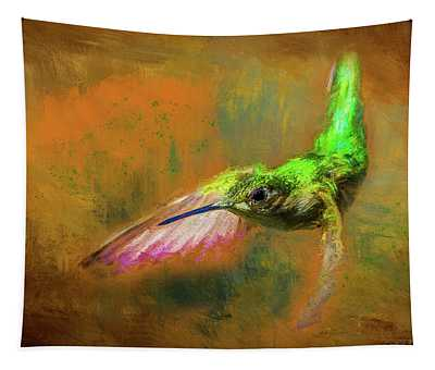 Humming Bird Painted Tapestry