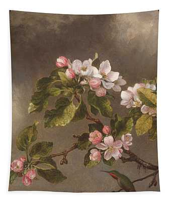 Hummingbird And Apple Blossoms Tapestry