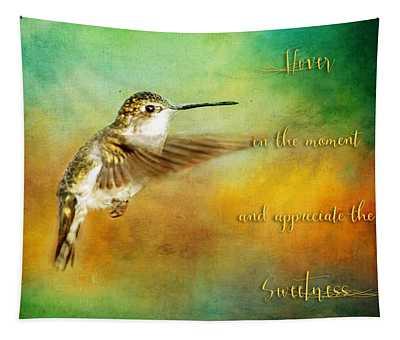 Hummingbird Hover Tapestry